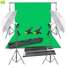 Emart Photography Backdrop Continuous Umbrella Studio Lighting Kit, Muslin Chrom