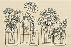 Flower Jars Wood Mounted Rubber Stamp STAMPENDOUS New P313