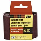 3M Heavy-Duty Power Sanding Belts, 2.5-in by 16-in, M Grit, 2-Pack