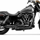 Two Brothers w Carbon 2 Into 1 Comp S Exhaust for 2006 2017 Harley Dyna Black
