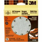3M Hookit 5-in 8 Hole Dust Free Discs, Course Grit, 15-pack