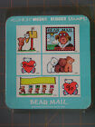 BEAR MAIL FM RUBBER STAMP SET CUTE RARE ALL NIGHT MEDIA BEAR THEME LOT of 6