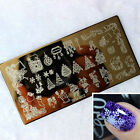 Nail Art Image Christmas Holiday Stamp Stamping Plate Manicure Template Nimble