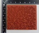 Stampin Up Flowers Leaves Swirls Background Rubber Stamp