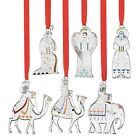 New Reed Barton Nativity 6 Pc Set Silver Plate Christmas Ornaments Decorations