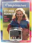 Weight Watchers Lets Walk Pedometer  Walking Guide Steps Miles Stopwatch New