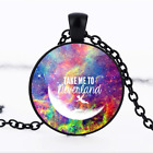I am a lost girl from neverland Black Bronze Tibet silver chain Pendant Necklace
