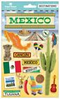 PAPER HOUSE MEXICO TRAVEL VACATION DIMENSIONAL 2D 3D SCRAPBOOK STICKERS
