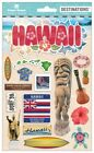 PAPER HOUSE HAWAII TRAVEL VACATION DIMENSIONAL 2D 3D SCRAPBOOK STICKERS
