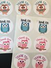 63 1 Owl Thank You Stickers Labels Envelope Seals