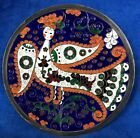 Vintage Russian Enamel on Silver 916 Plate Marked on the Back Winged Angel