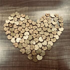 100pcs Love Heart Wood Loose Beads Charms Appointment Wedding Party Decor DIY