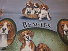 Collectible BEAGLE Dog Design Cotton Jacquard Woven Throw Blanket NEW