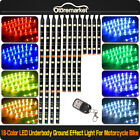 12pcs 8 Colors Universal Led Motorcycle Underbody Engine Neon Accent Light Kit