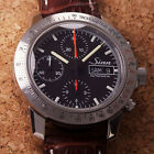 Authentic Sinn 303 Day Date Black Dial Chronograph Automatic Mens Watch