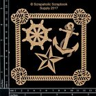 Scrapaholics Chipboard Nautical Frame Set