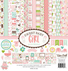 ECHO PARK PAPER CO SWEET BABY GIRL COLLECTION SCRAPBOOK KIT PAPERS