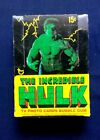 Vintage 1979 Topps The Incredible Hulk TV Photo Cards Box 36 Unopened Wax Packs