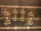 GUINNESS TULIP PINT GLASS NEW SET of 4 20 Ounce Beer Glasses Pub Bar