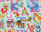 Henry Glass Alphabet Soup Blue Letters Print 6090 11 new bty fabric