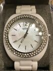 NWT DKNY MOTHER OF PEARL CRYSTAL CASE 50M LADIES WATCH NY8095 PERFECT CONDITION!