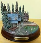 Thomas Kinkade Hawthorne Village End of a Perfect Day III Sculpture 01 works!