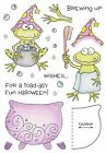 HALLOWEEN Frog Wizard Clear Unmounted Rubber Stamp Set INKY ANTICS 11051MC New