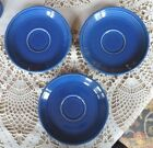 Lot of 3 FIESTA Saucers for Teacups, SAPPHIRE Blue, Rare Discontinued Limited