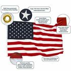 3x5Feet Nylon American USA US Flag Sewn Stripes EMBROIDERED Stars Brass Grommets