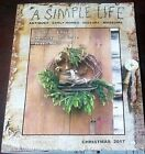 A SIMPLE LIFE MAGAZINE WINTER CHRISTMAS 2017 WREATH MAKING AMISH TOYS KENTUCKY
