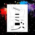 Electric Guitar 01 Airbrush StencilTemplate