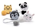 Retractable Cute Animal Tape Measure Fluffy Pom Pom 60ins 150cm Knitting Sewing