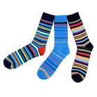 Mens Bold Colorful Bright Spring Summer Stripe Dress Casual Socks 10 13 New