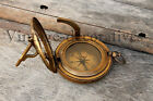 Nautical Antique Finish Brass Sundial Compass Maritime Vintage Working Compass