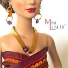"""16"""" Doll Jewelry - Amethyst & Gold Necklace Set - Sybarite, Tonner Tyler, FR16"""