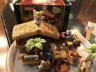 Fisher Price Little People Nativity Manger Play Set Christmas lights sounds EUC