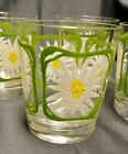 7 LG VTG MCM Rocks Old Fashion Tumbler Drinkware Glasses DAISY ~ Mid Century