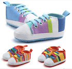 Baby Girl Boy Canvas Shoes Casual Sneakers Toddler Infant Soft Crib Prewalkers