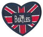 THE BEATLES UNION JACK HEART Iron on Sew on Patch Embroidered Badge 025