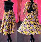 Vintage 50s Psychedelic Mod Dress Jacqueline Chiffon Party Prom Cocktail Evening