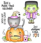 Halloween Creepin Real Set CLEAR Unmounted Rubber Stamp Set Darcies POL365 NEW