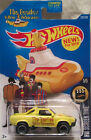 Hot Wheels CUSTOM SUBARU BRAT The Beatles Yellow Submarine Real Riders Limited