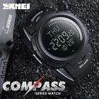LED Date Outdoor Compass Watch Mens Waterproof Military Wristwatches HSUS