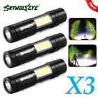 Details about  3x5000LM 14500/AA COB+LED Zoomable Flashlight Torch Penlight US