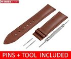 For LONGINES Watch BROWN Genuine Leather Strap Band For Clasp 18 19 20 21 22mm