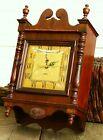 VINTAGE NUTONE DOORBELL WALL CLOCK Wooden Case Beautiful curved glass Old ASIS