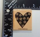 Stampin Up Floral Decorated Heart Rubber Stamp