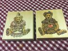 lot of 2 Boyds Bear Collection Uptown Rubber Stamps Bailey Birthday Justina