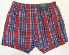 NWT Polo Ralph Lauren Men's Red/Blue Plaid Classic Fit Full Cut Styling Boxers