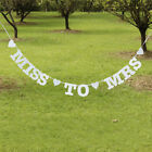 MISS TO MRS Bridal Shower Hens Night Party Banner Bunting Wedding Decorations